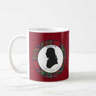Robert Burns silhouette mug