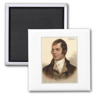 """Robert Burns """"To Know Her"""" Love Quote Gifts & Tees Magnet"""