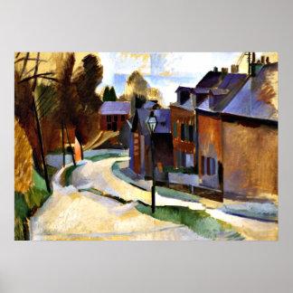 Robert Delaunay art: Road in Laon Poster