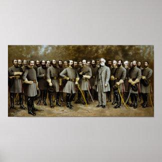 Robert E. Lee and His Confederate Generals Poster