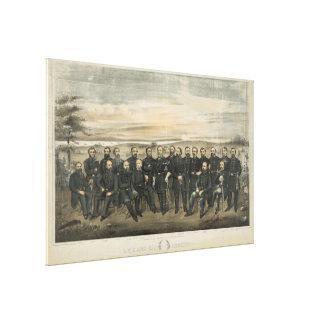 Robert E. Lee & his Civil War Confederate Generals Gallery Wrapped Canvas
