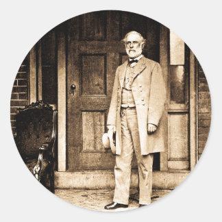 Robert E. Lee Vintage Mathew Brady Round Sticker