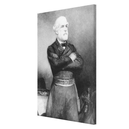 Robert Edward Lee Portrait by John Adams Elder Canvas Prints