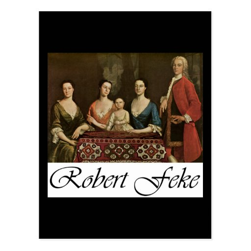 Robert Feke Isaac Royall and His Family Post Card