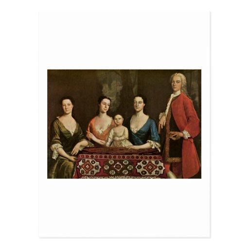 Robert Feke Isaac Royall and His Family Post Cards
