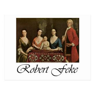 Robert Feke Isaac Royall and His Family Postcards