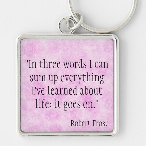 Robert Frost Key Chain