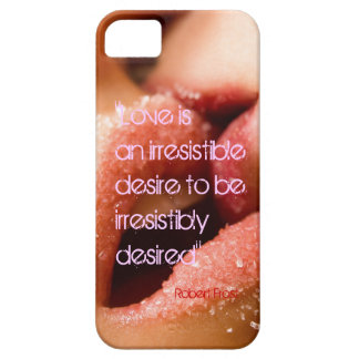 Robert Frost love quote sugar kiss bachground iPhone 5 Cover