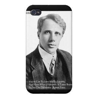 Robert Frost Loveble/Hateable Quote Gifts & Cards iPhone 4/4S Cases