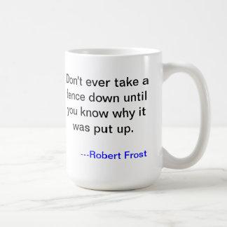 Robert Frost Mug about Barriers