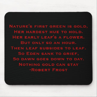 Robert Frost Poem Mouse Pad