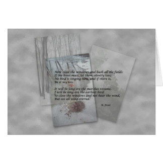 Robert Frost poetry Greeting Card