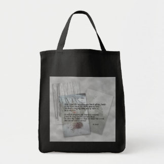 Robert Frost poetry Grocery Tote Bag
