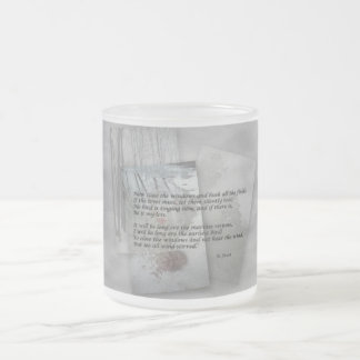 Robert Frost poetry Frosted Glass Mug