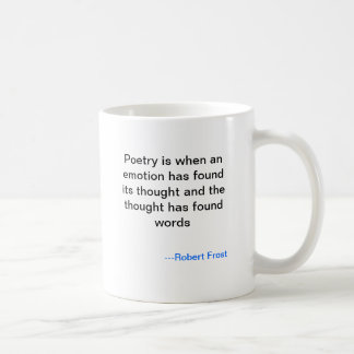Robert Frost Poetry Mug
