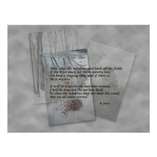 Robert Frost poetry Poster