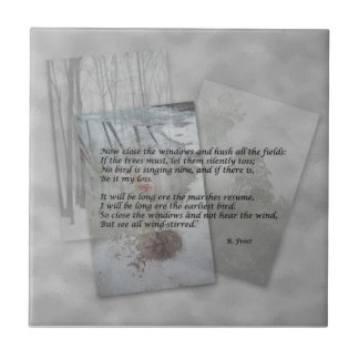 Robert Frost poetry Small Square Tile
