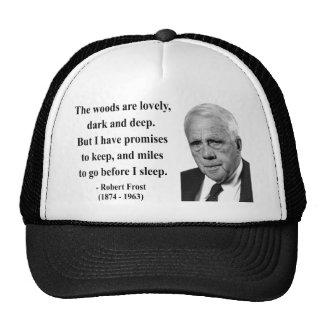 Robert Frost Quote 2b Hat