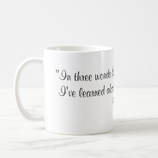 Robert Frost Quote Basic White Mug