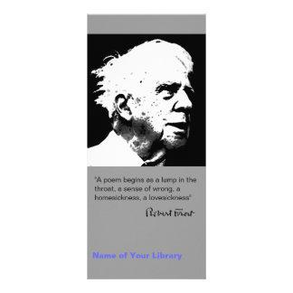 Robert Frost Rack Card Template