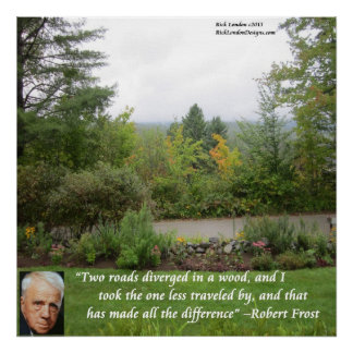 "Robert Frost ""Road Less Traveled"" Wisdom Poster Print"