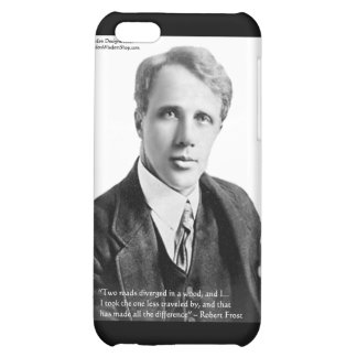 """Robert Frost """"Road Traveled"""" Quote On Cards & Gift Cover For iPhone 5C"""