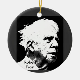 Robert Frost Round Ceramic Decoration