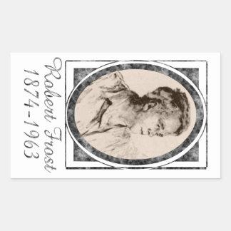 Robert Frost Rectangular Stickers