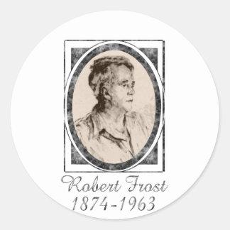 Robert Frost Round Stickers