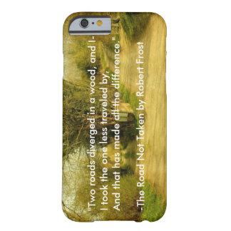 """Robert Frost's """"The Road Not Taken"""" iPhone 6 case Barely There iPhone 6 Case"""