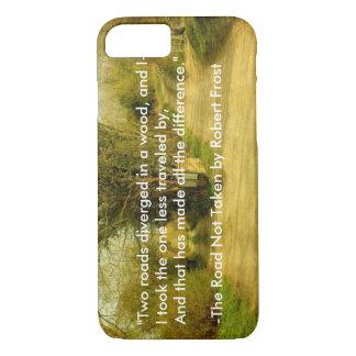 """Robert Frost's """"The Road Not Taken"""" iPhone 7 case"""