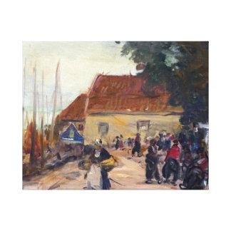 Robert Henri Volendam Street Scene Canvas Print