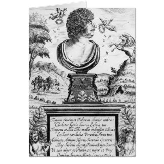 Robert Herrick , engraved by the artist Card