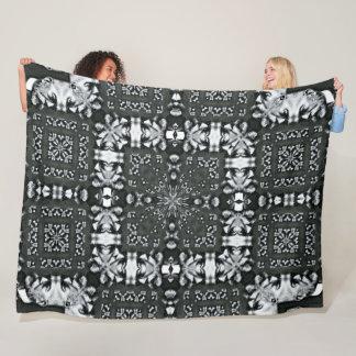 Robert Koch Biologist Satin Foulard Pattern Fleece Blanket