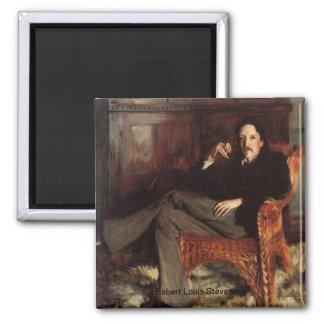 Robert Louis Stevenson Portrait Square Magnet