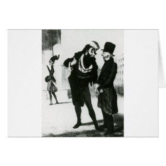 Robert Macaire Business Men by Honore Daumier Greeting Card