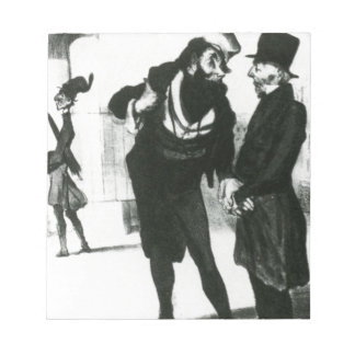 Robert Macaire Business Men by Honore Daumier Notepads