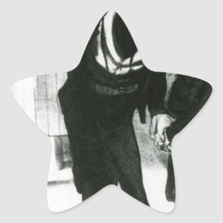 Robert Macaire Business Men by Honore Daumier Star Sticker