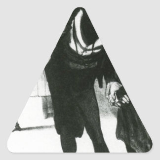 Robert Macaire Business Men by Honore Daumier Triangle Sticker