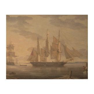 Robert Salmon - Ships in Harbor Wood Prints