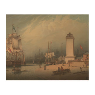 Robert Salmon - The Low Lighthouse, North Shields Wood Prints
