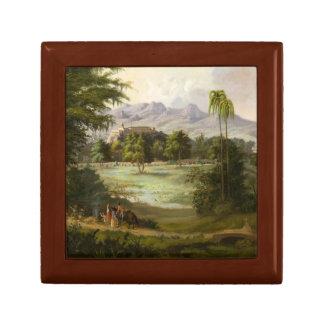 Robert Scott Duncanson - Chapultpec Castle Small Square Gift Box