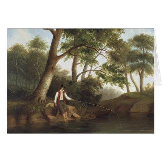Robert Scott Duncanson - Man Fishing Card