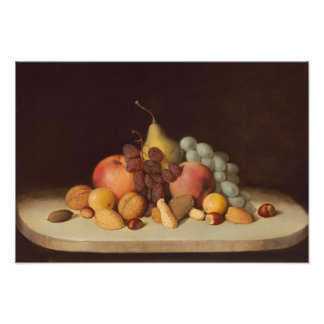 Robert Scott Duncanson - Still Life with Fruit Photographic Print