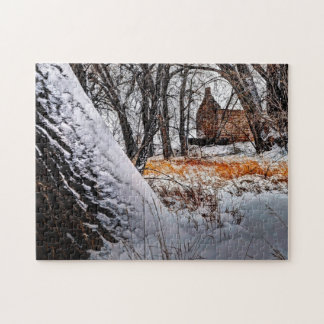 Robert Strauss Cabin Colorado. Jigsaw Puzzle