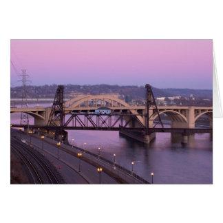 Robert Street Bridge at Dusk Card