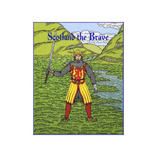 Robert the Bruce Scotland the Brave Canvas Print