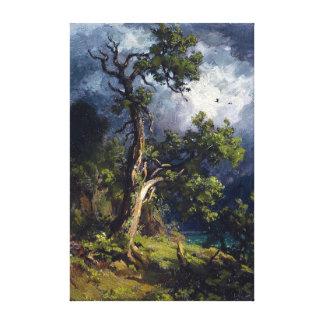 Robert Zünd Walnut Tree Canvas Print