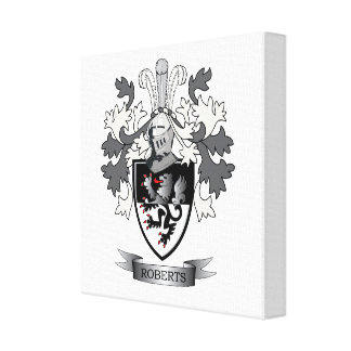 Roberts Family Crest Canvas Print
