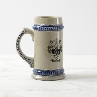 Roberts Family Crest Coat of Arms Beer Stein